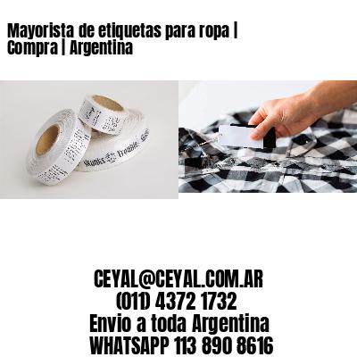 Mayorista de etiquetas para ropa | Compra | Argentina