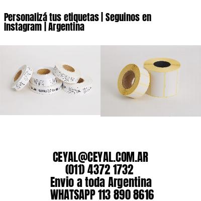 Personalizá tus etiquetas | Seguinos en Instagram | Argentina