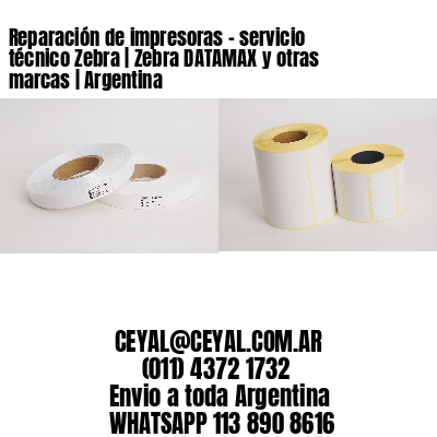 Reparación de impresoras - servicio técnico Zebra | Zebra DATAMAX y otras marcas | Argentina