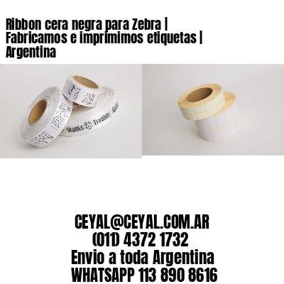 Ribbon cera negra para Zebra   Fabricamos e imprimimos etiquetas   Argentina