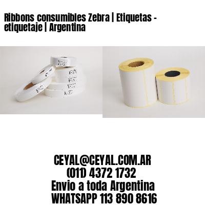 Ribbons consumibles Zebra   Etiquetas - etiquetaje   Argentina