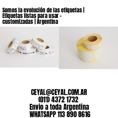 Somos la evolución de las etiquetas | Etiquetas listas para usar – customizadas | Argentina