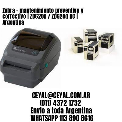 Zebra – mantenimiento preventivo y correctivo | ZD620d / ZD620d‑HC | Argentina