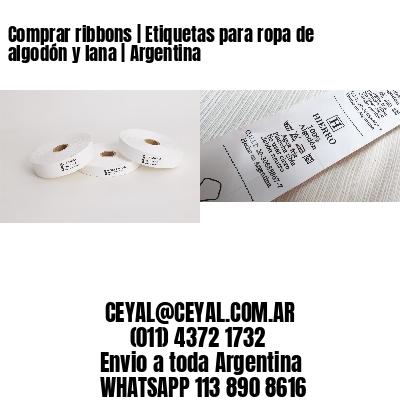 Comprar ribbons | Etiquetas para ropa de algodón y lana | Argentina