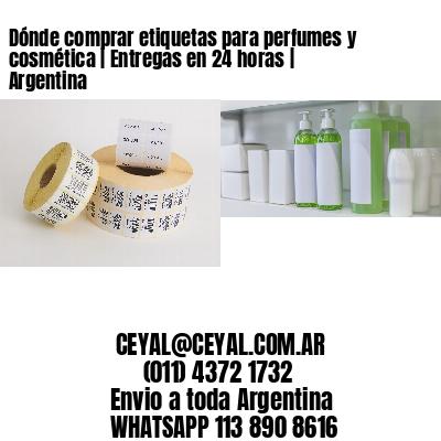 Dónde comprar etiquetas para perfumes y cosmética   Entregas en 24 horas   Argentina