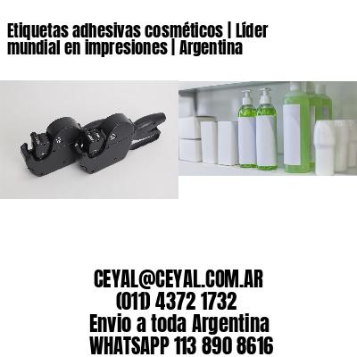 Etiquetas adhesivas cosméticos | Líder mundial en impresiones | Argentina