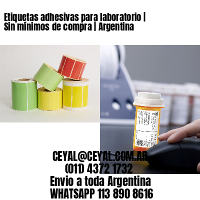 Etiquetas adhesivas para laboratorio   Sin mínimos de compra   Argentina