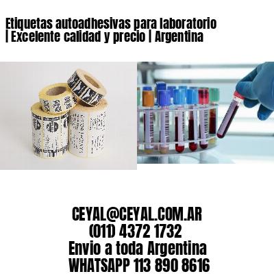 Etiquetas autoadhesivas para laboratorio   Excelente calidad y precio   Argentina