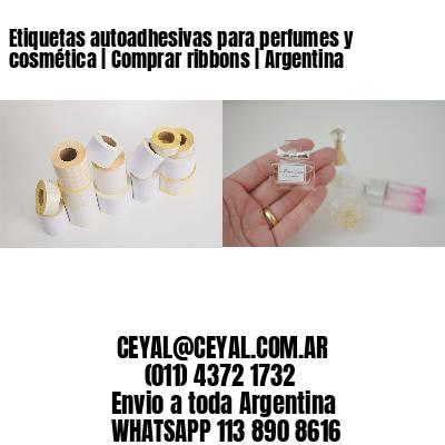 Etiquetas autoadhesivas para perfumes y cosmética | Comprar ribbons | Argentina