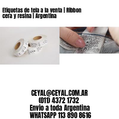 Etiquetas de tela a la venta | Ribbon cera y resina | Argentina