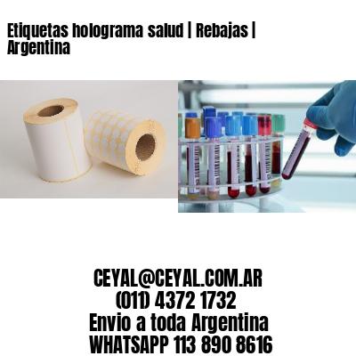 Etiquetas holograma salud | Rebajas | Argentina