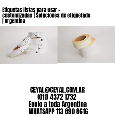 Etiquetas listas para usar – customizadas   Soluciones de etiquetado   Argentina