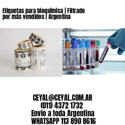Etiquetas para bioquímica | Filtrado por más vendidos | Argentina