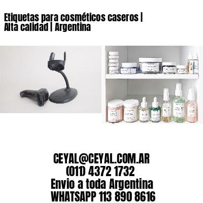 Etiquetas para cosméticos caseros | Alta calidad | Argentina