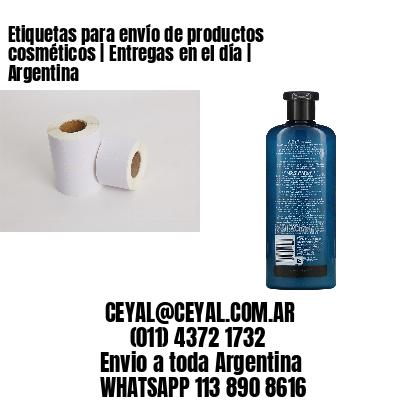 Etiquetas para envío de productos cosméticos | Entregas en el día | Argentina