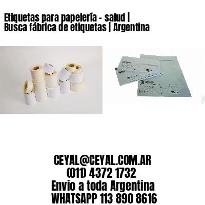 Etiquetas para papelería - salud | Busca fábrica de etiquetas | Argentina