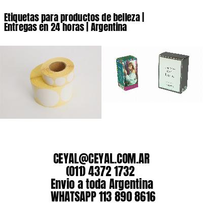 Etiquetas para productos de belleza   Entregas en 24 horas   Argentina