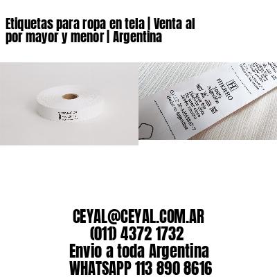 Etiquetas para ropa en tela | Venta al por mayor y menor | Argentina
