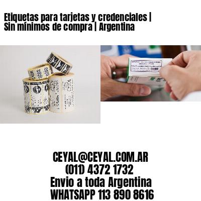 Etiquetas para tarjetas y credenciales | Sin mínimos de compra | Argentina