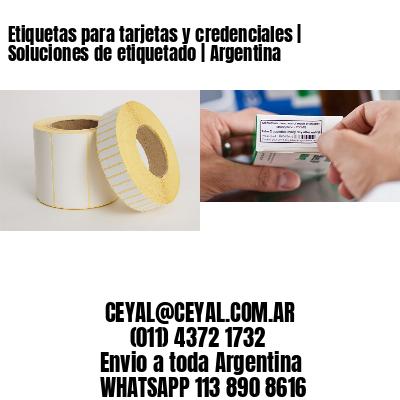 Etiquetas para tarjetas y credenciales | Soluciones de etiquetado | Argentina