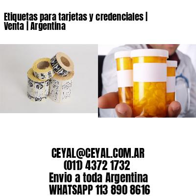 Etiquetas para tarjetas y credenciales   Venta   Argentina