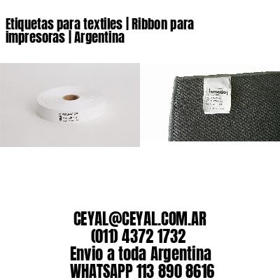 Etiquetas para textiles   Ribbon para impresoras   Argentina