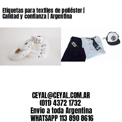 Etiquetas para textiles de poliéster | Calidad y confianza | Argentina
