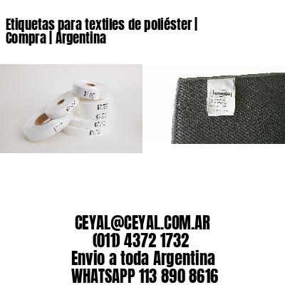 Etiquetas para textiles de poliéster | Compra | Argentina