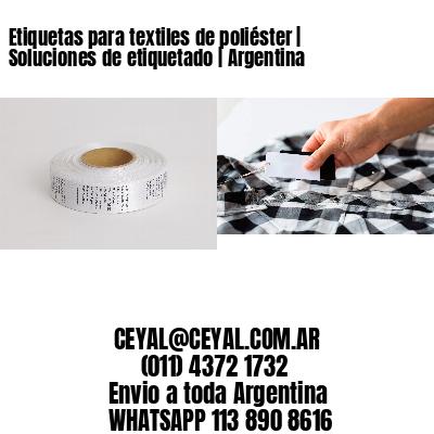Etiquetas para textiles de poliéster | Soluciones de etiquetado | Argentina