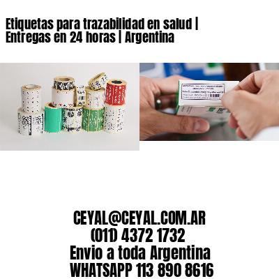 Etiquetas para trazabilidad en salud | Entregas en 24 horas | Argentina