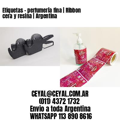 Etiquetas - perfumería fina | Ribbon cera y resina | Argentina
