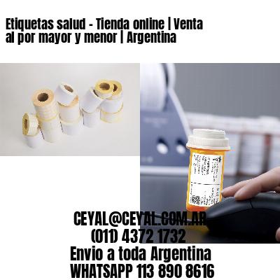 Etiquetas salud - Tienda online | Venta al por mayor y menor | Argentina