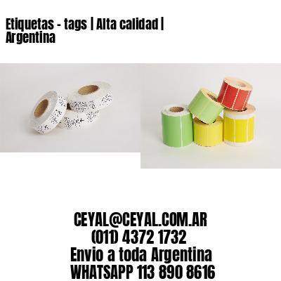 Etiquetas - tags | Alta calidad | Argentina