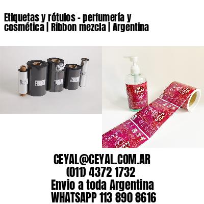 Etiquetas y rótulos - perfumería y cosmética | Ribbon mezcla | Argentina