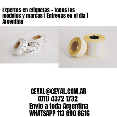 Expertos en etiquetas - Todos los modelos y marcas | Entregas en el día | Argentina