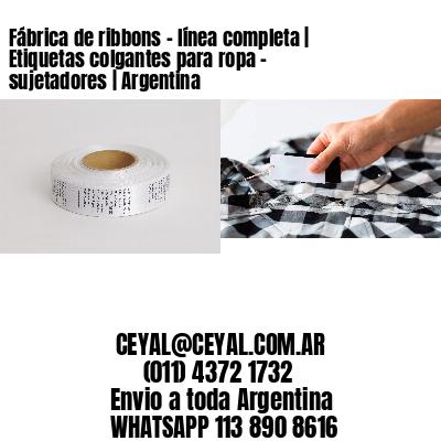 Fábrica de ribbons - línea completa | Etiquetas colgantes para ropa - sujetadores | Argentina