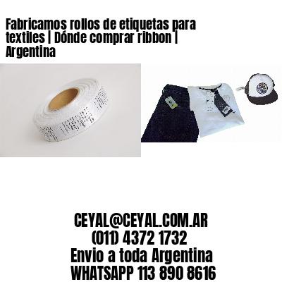 Fabricamos rollos de etiquetas para textiles | Dónde comprar ribbon | Argentina