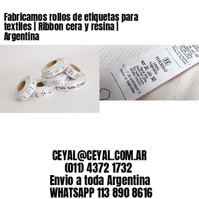 Fabricamos rollos de etiquetas para textiles | Ribbon cera y resina | Argentina