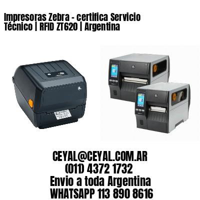 Impresoras Zebra - certifica Servicio Técnico | RFID ZT620 | Argentina