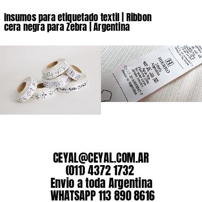 Insumos para etiquetado textil   Ribbon cera negra para Zebra   Argentina