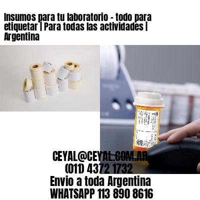 Insumos para tu laboratorio - todo para etiquetar   Para todas las actividades   Argentina