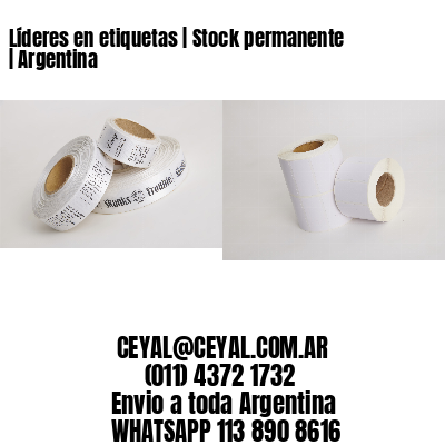 Líderes en etiquetas | Stock permanente | Argentina