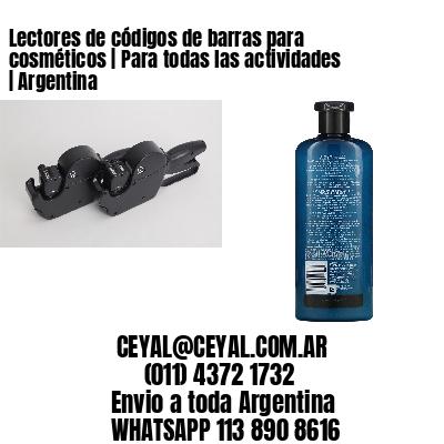 Lectores de códigos de barras para cosméticos   Para todas las actividades   Argentina