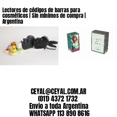 Lectores de códigos de barras para cosméticos | Sin mínimos de compra | Argentina