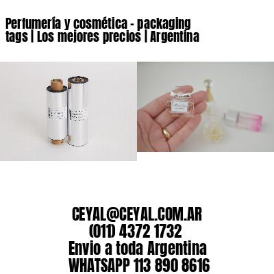 Perfumería y cosmética – packaging tags   Los mejores precios   Argentina