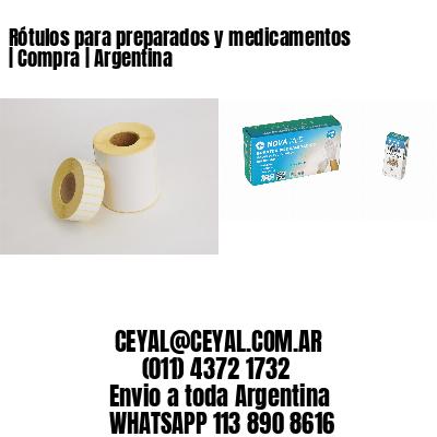 Rótulos para preparados y medicamentos | Compra | Argentina