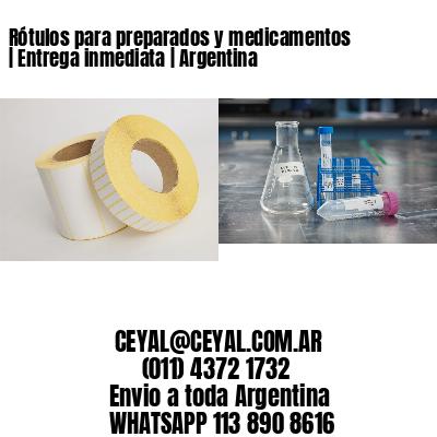 Rótulos para preparados y medicamentos | Entrega inmediata | Argentina