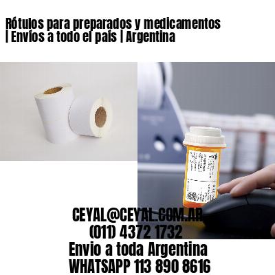 Rótulos para preparados y medicamentos | Envíos a todo el país | Argentina