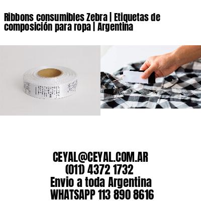 Ribbons consumibles Zebra | Etiquetas de composición para ropa | Argentina