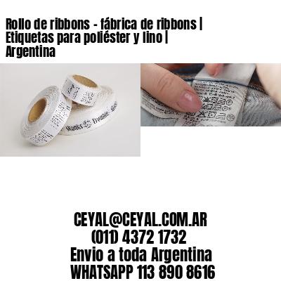 Rollo de ribbons - fábrica de ribbons | Etiquetas para poliéster y lino | Argentina